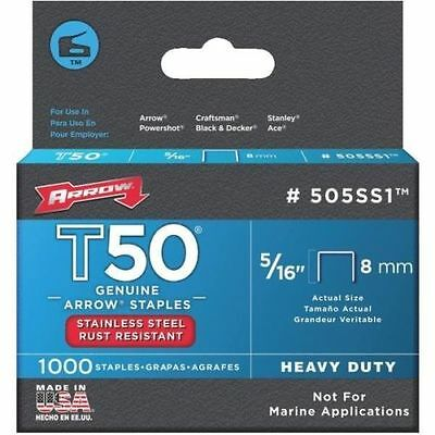"BRAND NEW! ARROW Stainless Steel Staples 5/16"" T50 #505SS1"