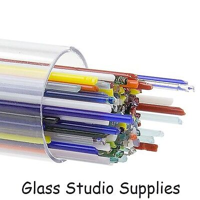 Bullseye Kiln Fusing Glass Stringers - Mixed Pack
