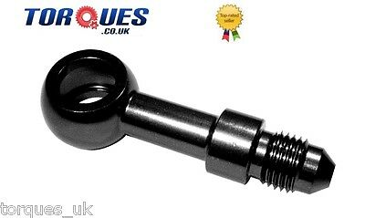 AN -3 (3AN AN3) Male Long Straigh Aluminium Banjo Fitting. Brake 10mm I.D Black