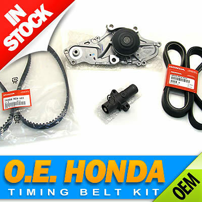 Honda/Acura V6 Premium Timing Belt & Water Pump Kit  Genuine/OEM Factory Parts!
