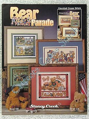 Cross Stitch Pattern Teddy Bear on Parade Stoney Creek