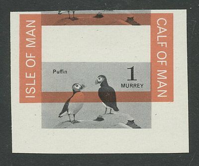 IOM Calf of Man 1963 1st Birds  Puffin SHIFTED marginal