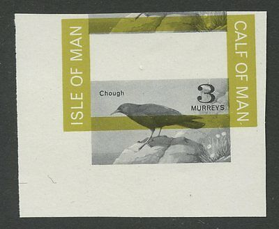 IOM Calf of Man 1963 1st Birds Proof error moved Chough