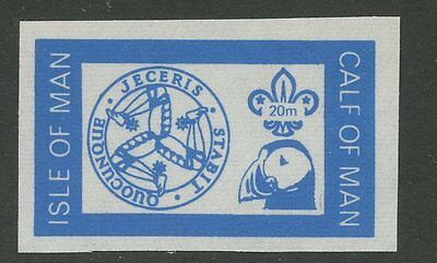 IOM Calf of Man 1972 Scout Puffin 20m imperf BLUE PROOF