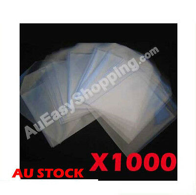 High Quality Ebox Brand 1000 DVD CD Music Clear Plastic sleeves hold 1 disc flap