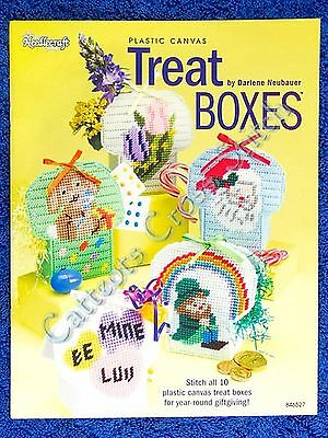 Plastic Canvas Pattern Treat Boxes 10 Designs Q & Easy