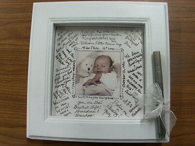 """Framed Wishes"" Baby Photo Frame  - Stephan Baby - New"