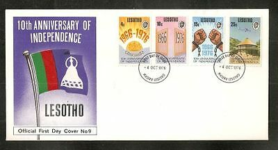 Lesotho Scott # 213-216 Independence  10th Anniversity FDC