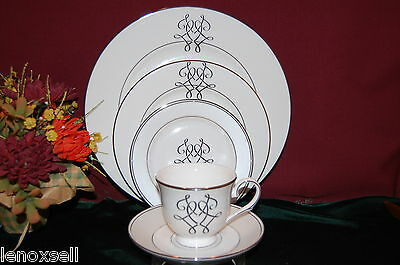 2 Lenox Scripted PLATINUM 5 piece place Settings NEW USA 1st Quality