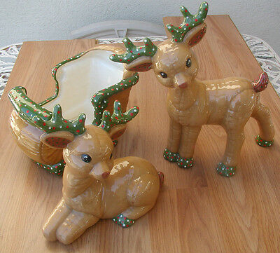 Vintage Christmas Reindeers and Sleigh, Kimple Mold Corporation, 1985