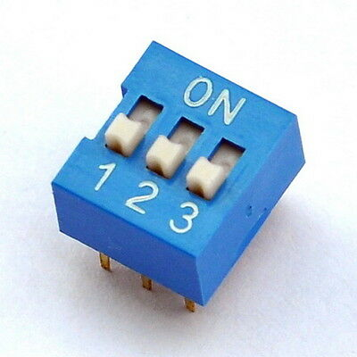 10x  3 Way DIP Switch, 3 Position 6 pin PCB Mountable