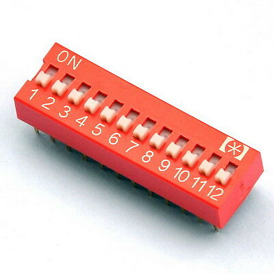 10x  12 Way DIP Switch,12 Position 24 pin PCB Mountable