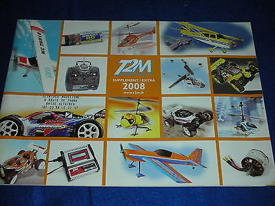 supplement du CATALOGUE 2008 des PIECES de MODELISME T2M avion VOITURE helico