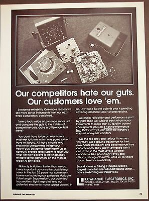1979 Lowrance Electronics sonar instrument for fishing vintage ad