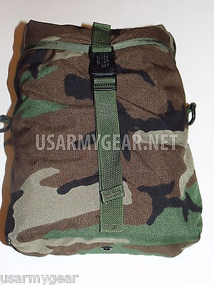 Made in USA Military Army Molle 2 Woodland Camouflage Sustainment Pouch GI Gear
