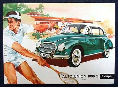 AUTO UNION 1000S COUPE Car Sales Brochure c1959 #WB2420(80J 118G)