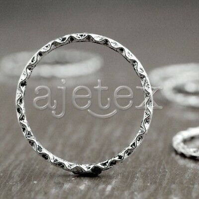 30 Tibet Style Tibetan Silver Ring Circle Bead Spacers Findings TS3356