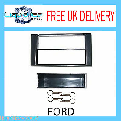 Fp-07-09 Ford Focus Fascia 2001-2011 Black Can Fit Single & Double Head Unit