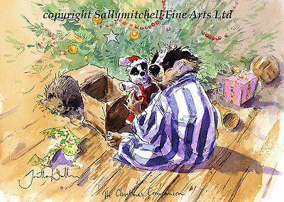 Funny wildlife Badger Christmas cards pack of 10 by Jonathan Walker C361x