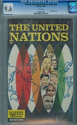 Classics Illustrated Special NN The United Nations CGC 9.6 scarce Highest Graded