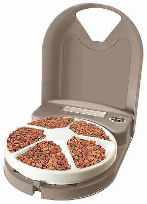 Petsafe 5 Meal Feeder Programmable To Give Pet Cats Dogs 5 Individual Meals