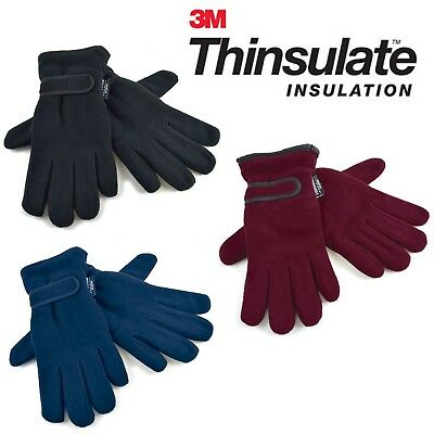 Ladies Thermal 3M Thinsulate Lined Polar Fleece Winter Gloves
