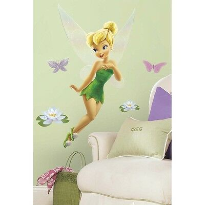 Tinkerbell disney fairy wall stickers 120 decal 30 mural for Disney tinkerbell mural