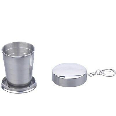 Stainless Steel portable Collapsible Shot Glass 2oz bad ass 4 liquid 5_6