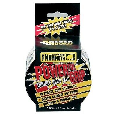 Everbuild Mammouth Powergrip Double sided Tape 25mm Super strong powerful grip