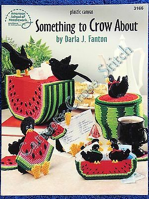 Plastic Canvas Pattern Something to Crow About Coaster Watermelon