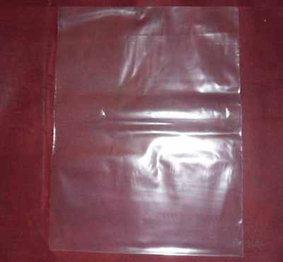 "100 Clear 5 x 7 Small Plastic Flat Poly Bags Open Top / Open End 5"" x 7"" 1.5 Mil"