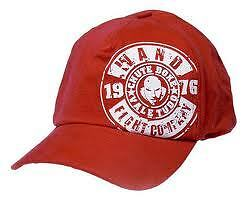 """Chute Boxe Wand """" Stamp """" Red Ball Cap Hat Mma Bjj Fight Vale Tudo"""