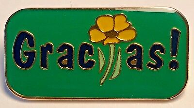 """Gracias!"" Enamel Lapel Pins/Wholesale Lot of 25/All New Line!"