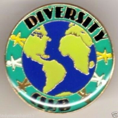"""DIVERSITY CLUB"" World/Poeple Enamel Lapel Pins/Lot of 25/ALL NEW!"
