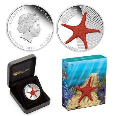Australien Sea Life Starfish / Seestern 1/2 OZ Silber / Silver 2011 PP / Proof