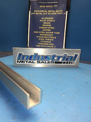 "1"" x 1"" x 24""-Long x 1/8"" Thick 6063 T52 Aluminum Channel"