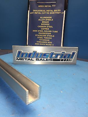 "1"" x 1"" x 60""-Long x 1/8"" Thick 6063 T52 Aluminum Channel"