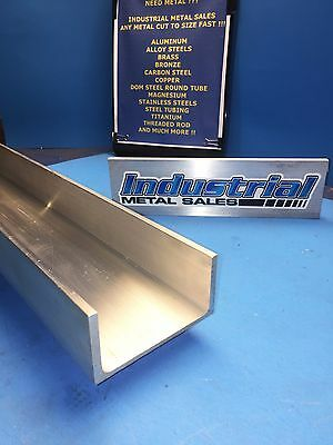 "Aluminum Channel 4"" x .150"" x 2"" x 12""-Long 6061 T6--> 4"" Aluminum Channel"