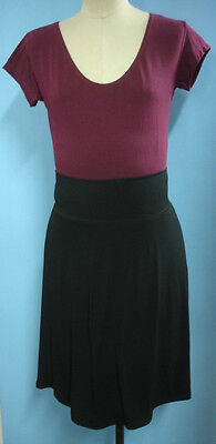 Maternity lined fold down skirt size 16 Black NEW