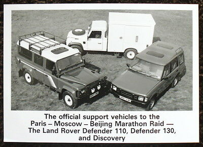 Land Rover Defender 110, 130 & Discovery Press Photograph Black & White '90 - 91