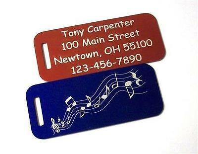 2  Engraved Custom Metal Luggage Tags Personalized Scuba Dive Tennis Bag