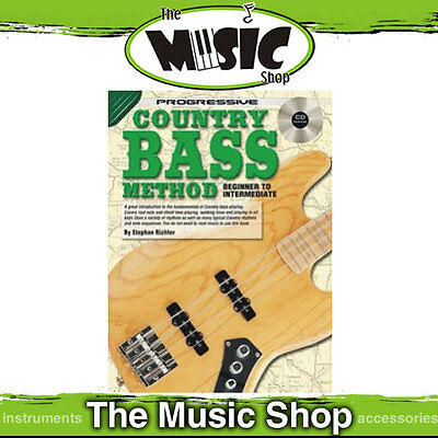 New Progressive Country Bass Guitar Method Music Book & CD Package - Tuition