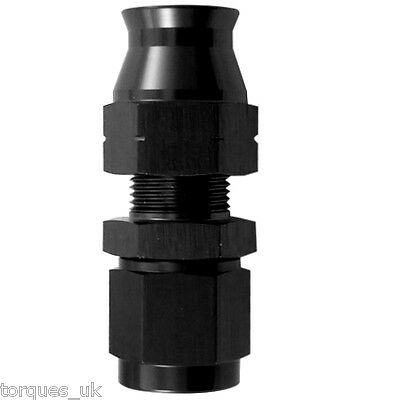 "AN -6 (AN6) STRAIGHT Female To 5/16"" (8mm) Tube / Pipe / Hardline Adapter BLACK"