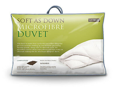 Luxury Soft As Down Hotel Quality Microfibre Filled King Bed Size Duvet Quilt