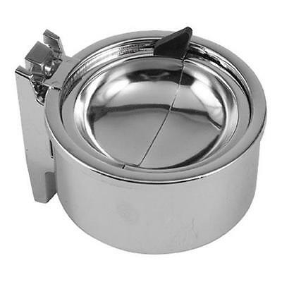"""Ashtrays (4-total) Wall Mount 4.5"""" Diameter Chrome plated steel NEW 38140"""