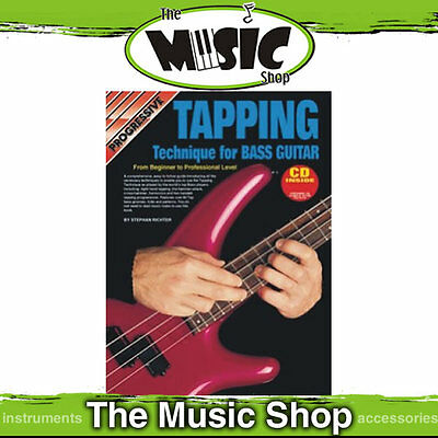 Progressive Tapping Technique for Bass Guitar Book & CD - New Tuition Book