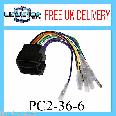 PC2-36-6 Female ISO to Bullet Connectors Audio Speaker Harness Adaptor Lead Loom