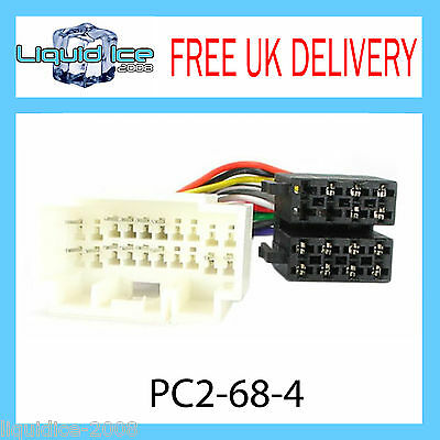 PC2-68-4 Suzuki Swift Jimny ISO Stereo Head Unit Harness Adaptor Wiring Lead