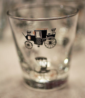 Libbey Horseless Carriage Tumblers (6)