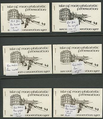 Isle of Man Eire 1977 Phil Federation 2nd Convention private booklet X10